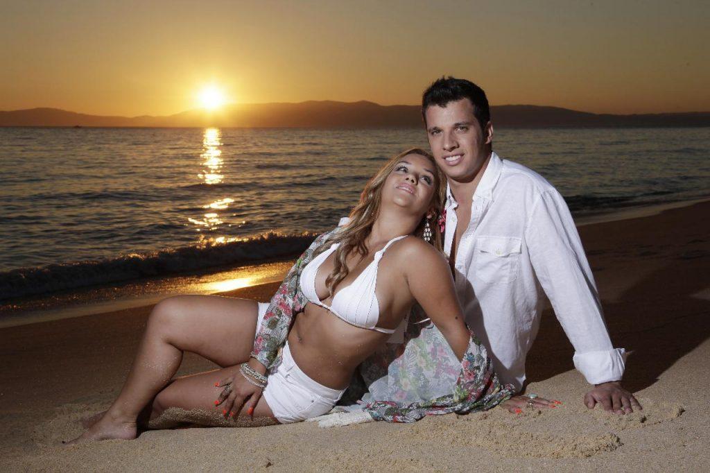 Luís Nascimento e a ex-namorada, Joana Diniz