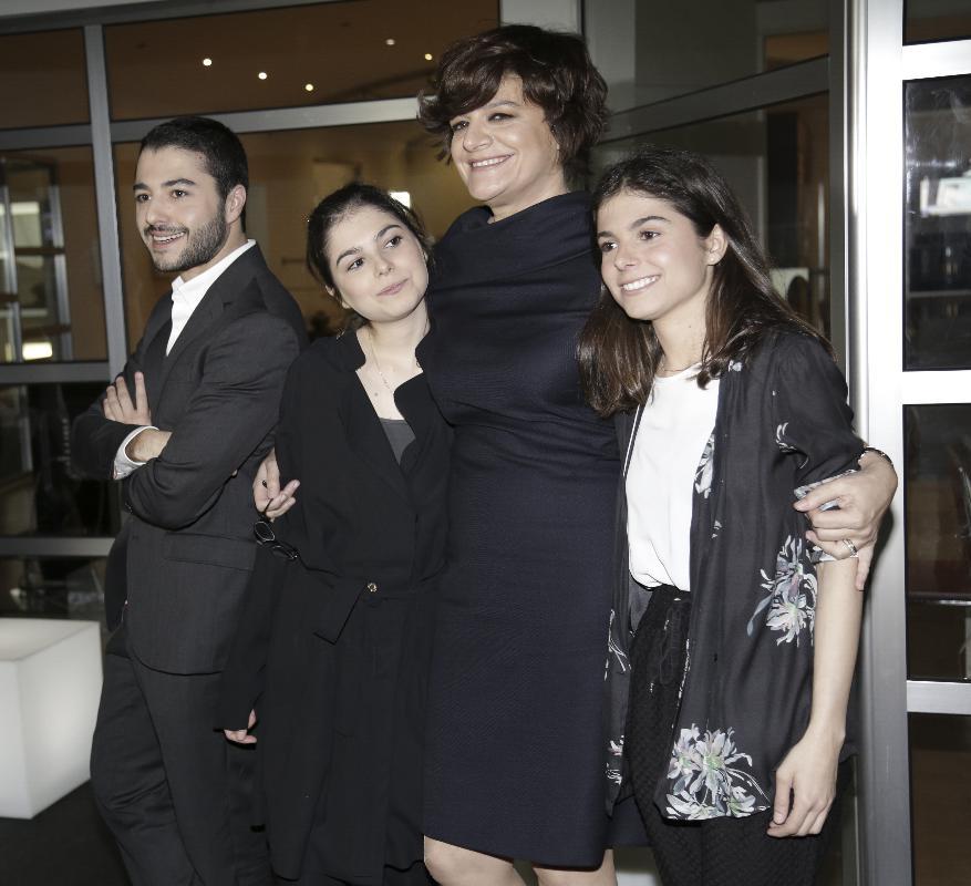 Júlia Pinheiro com os filhos, Rui Maria, Carolina Maria e Matilde Pêgo