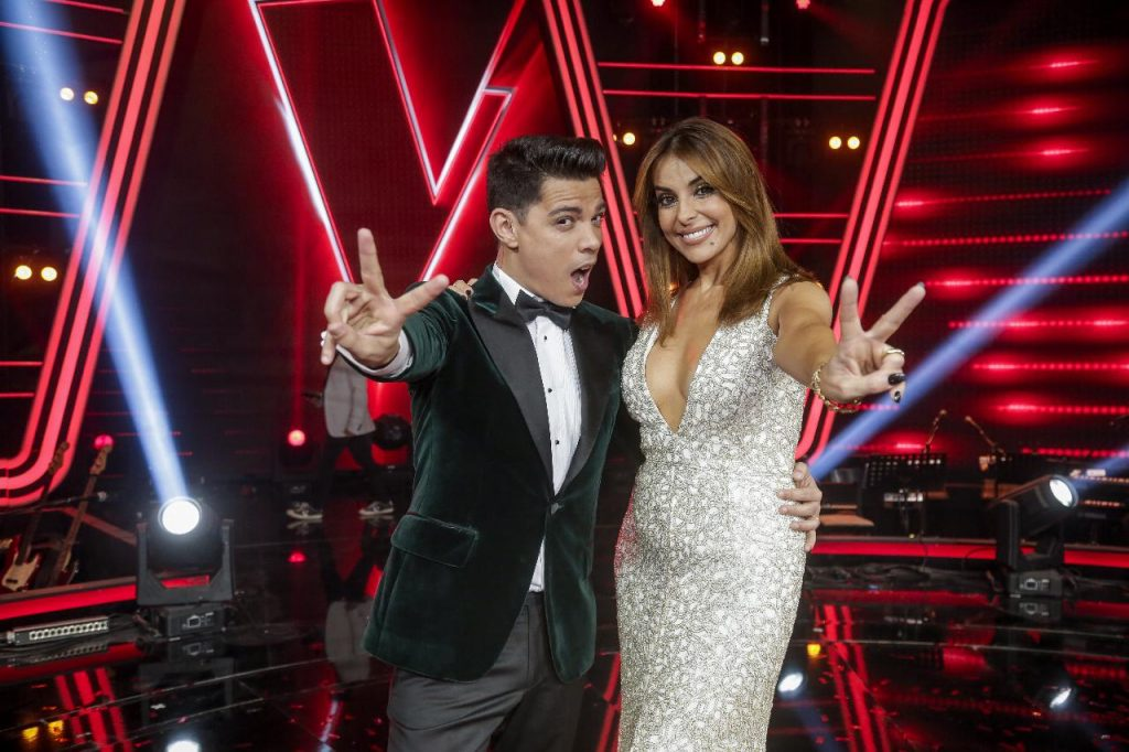 "Catarina Furtado e Vasco Palmeirim em ""The Voice Portugal"""