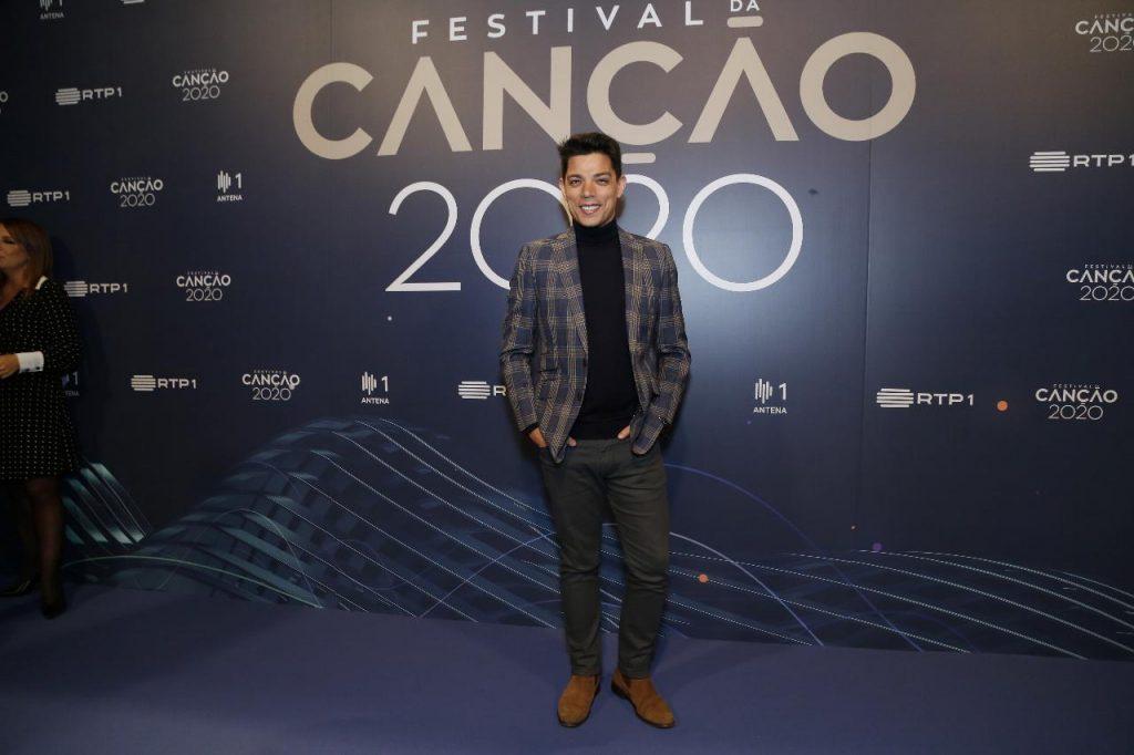 """Vasco Palmeirim na apresentação do """"Festival RTP da Canção"""""""