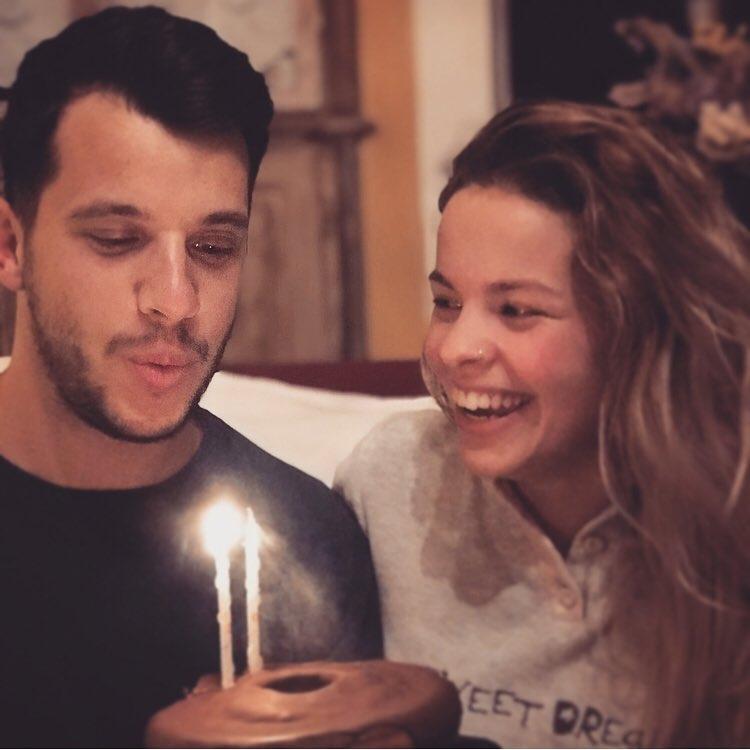 Luís Nascimento com a namorada, Teresa