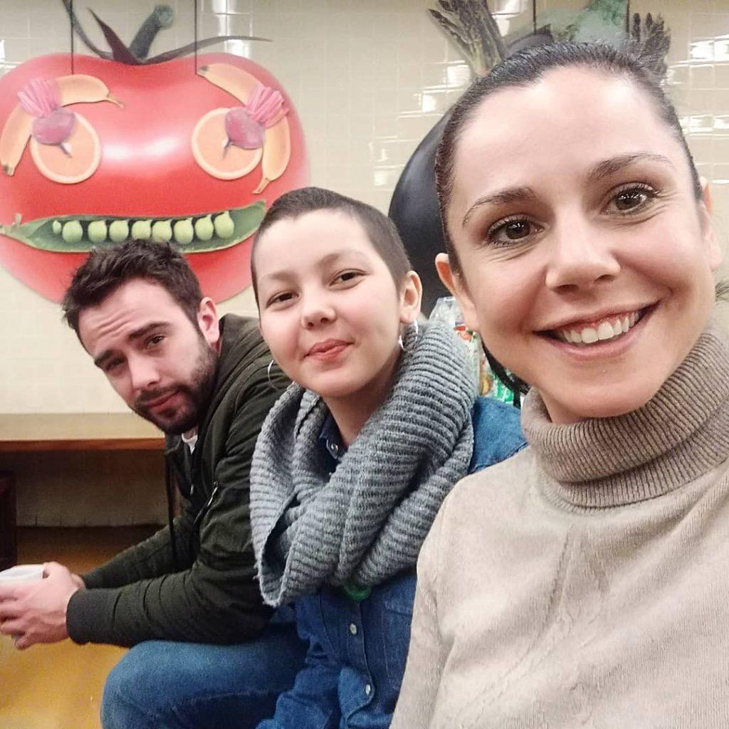 Sara Norte com a irmã, Beatriz, e o irmão, Diogo