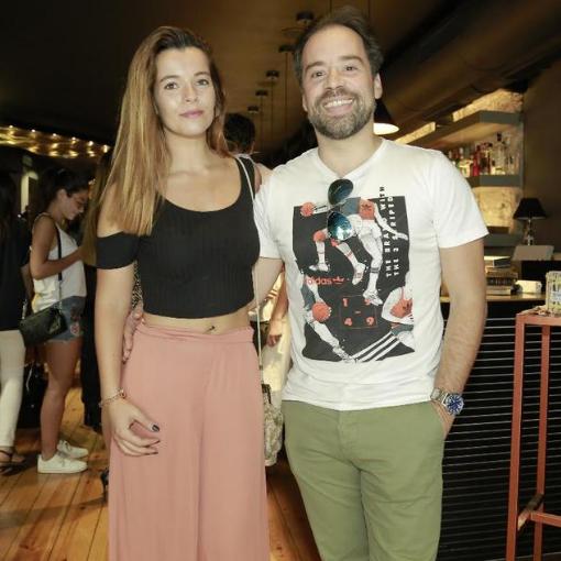 Luís Filipe Borges e Sara Santos
