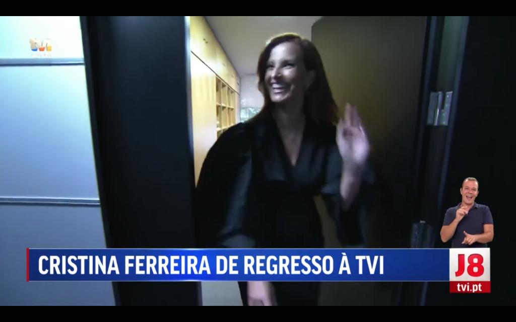 Cristina Ferreira no Jornal das 8