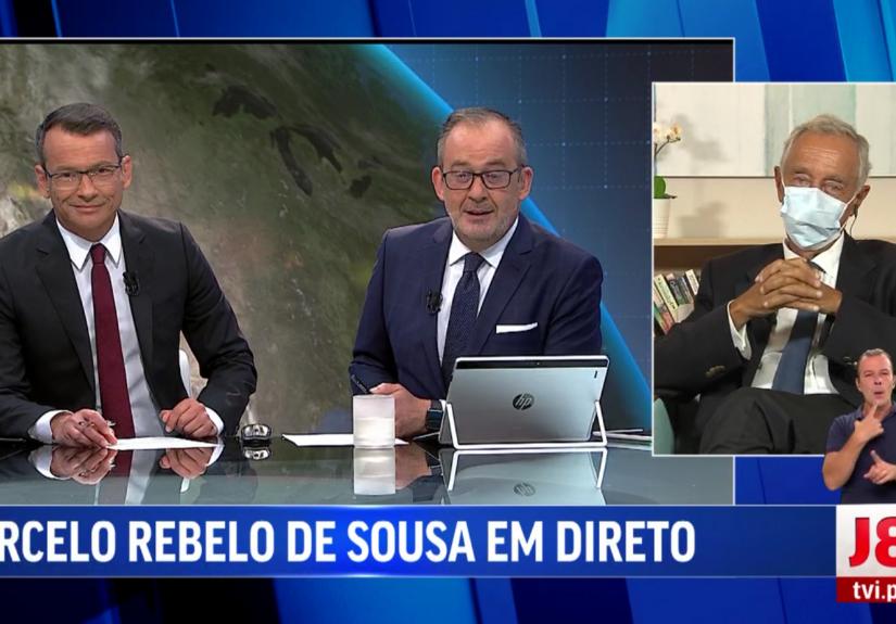 Marcelo Rebelo de Sousa no Jornal das 8