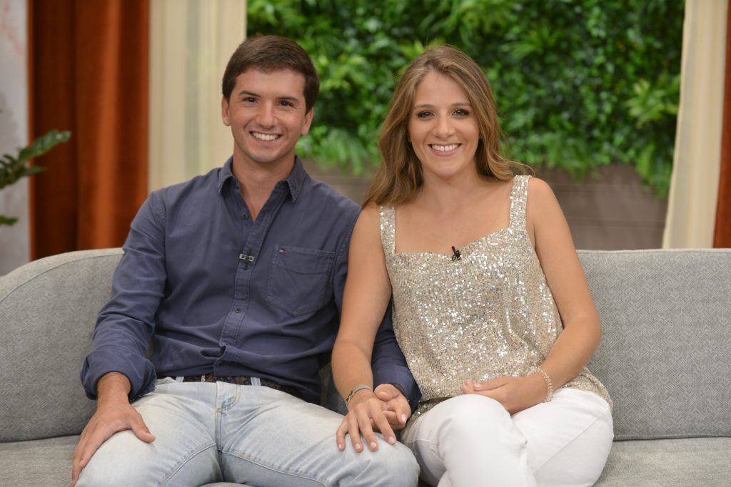 "Lourenço Gallego e Maria Borges, participantes de ""O Noivo é Que Sabe"""