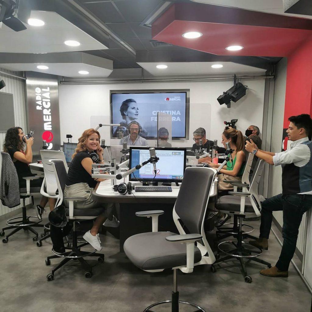 Cristina Ferreira, Nuno Markl, Pedro Ribeiro, Vasco Palmeirim, Elsa Teixeira e Vera Fernandes na Rádio Comercial