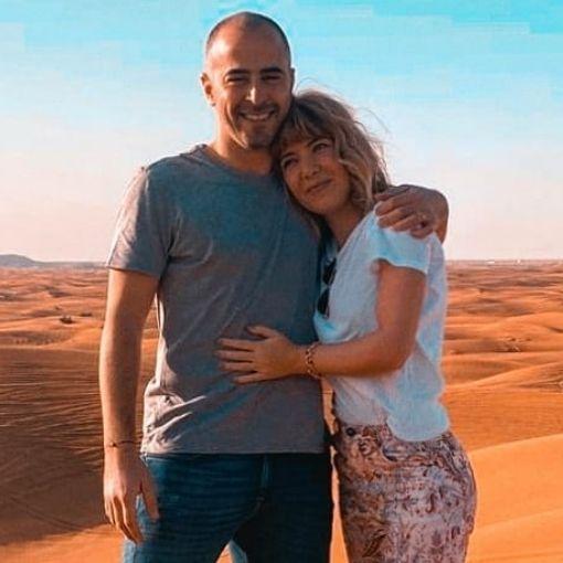 Raquel Strada e o marido, Joaquim Fernandes
