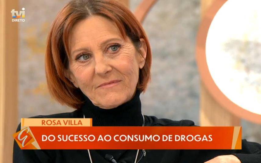 Rosa Villa foi entrevistada por Manuel Luís Goucha, na TVI, sobre o período em que foi toxicodependente