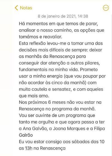 O desabafo de Carla Rocha