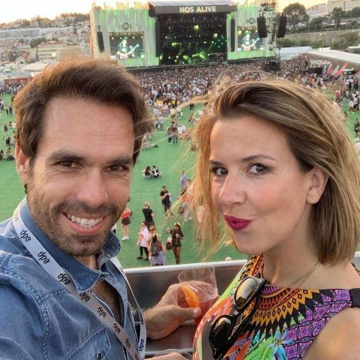 Ana Garcia Martins, mais conhecida como A Pipoca Mais Doce, e Ricardo Martins Pereira