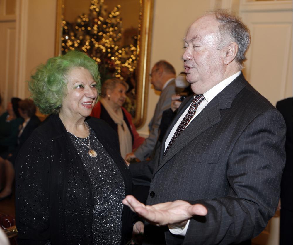 Maria José Valério com Alberto João Jardim