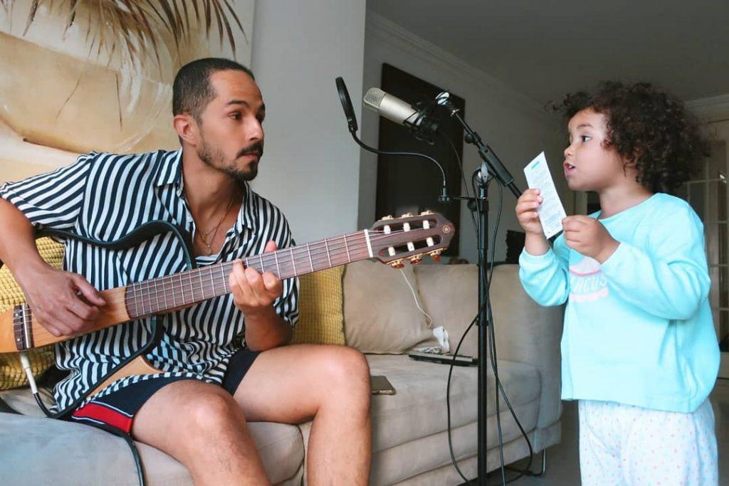 Filipe Gonçalves e a filha, Maria