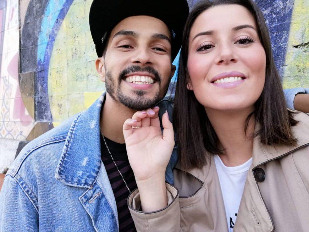 Filipe Gonçalves com Joana Figueiredo