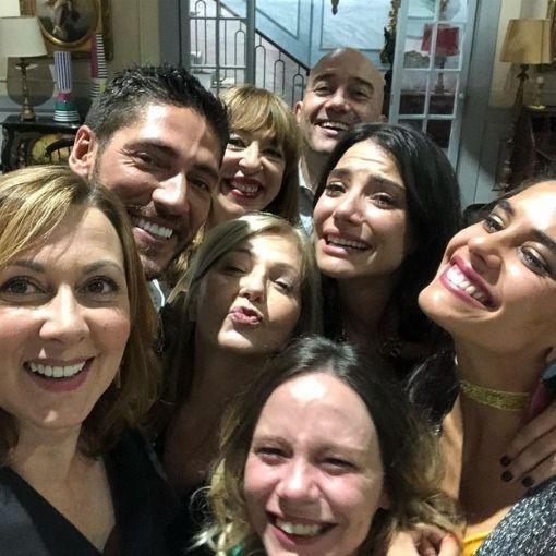 """Parte do elenco da série da SIC """"Golpe de Sorte"""", de que faziam parte Maria João Abreu e Carolina Carvalho"""