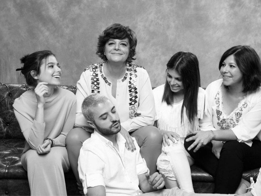 Júlia Pinheiro, os filhos e a enteada