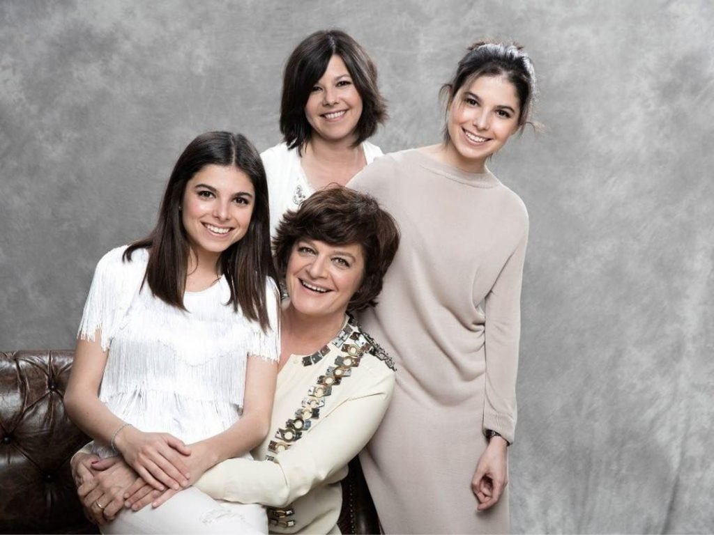 Júlia Pinheiro, as filhas e a enteada