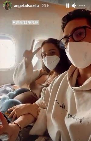 As férias de Angie Costa e Miguel Coimbra