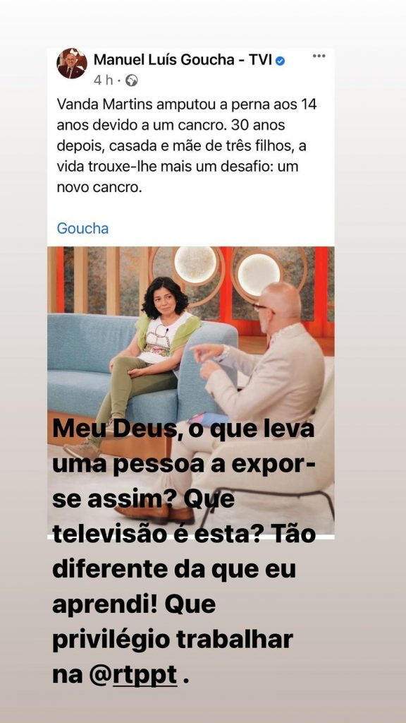José Carlos Malato criticou a exposição da vida de uma convidada de Manuel Luís Goucha no programa que este conduz nas tardes da TVI