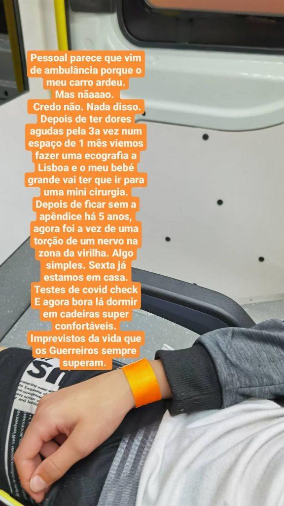 Inês Martins revelou que o filho vai ter de ser operado