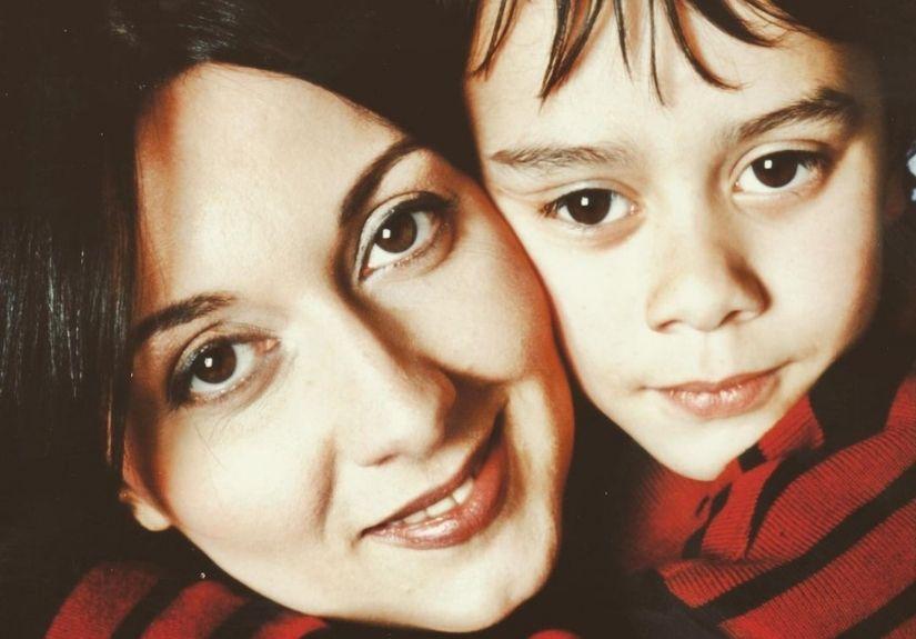 Maria João Abreu e o filho mais novo, Ricardo Raposo
