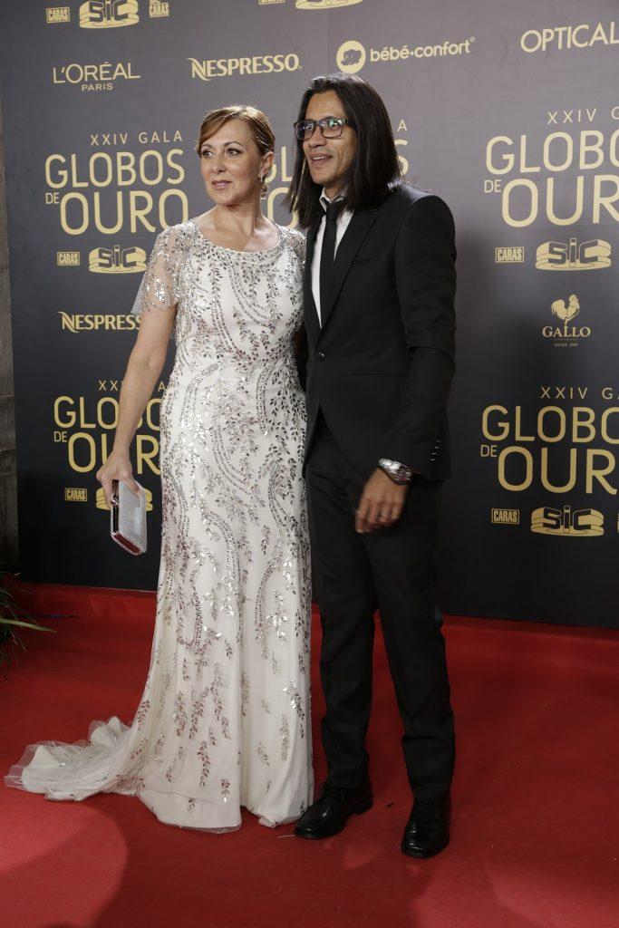 Maria João Abreu e o marido, João Soares