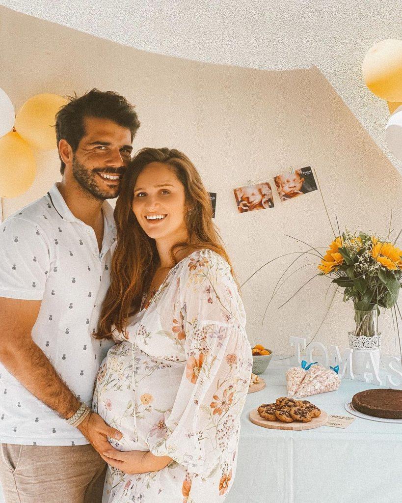 Imagem do babyshower do primeiro filho de Filipa Maló