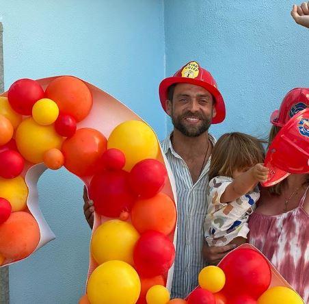 Jessica Athayde e Diogo Amaral na festa de Oli
