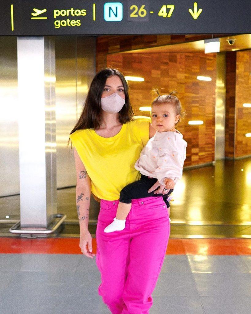 Mel Jordão com a filha, Penélope