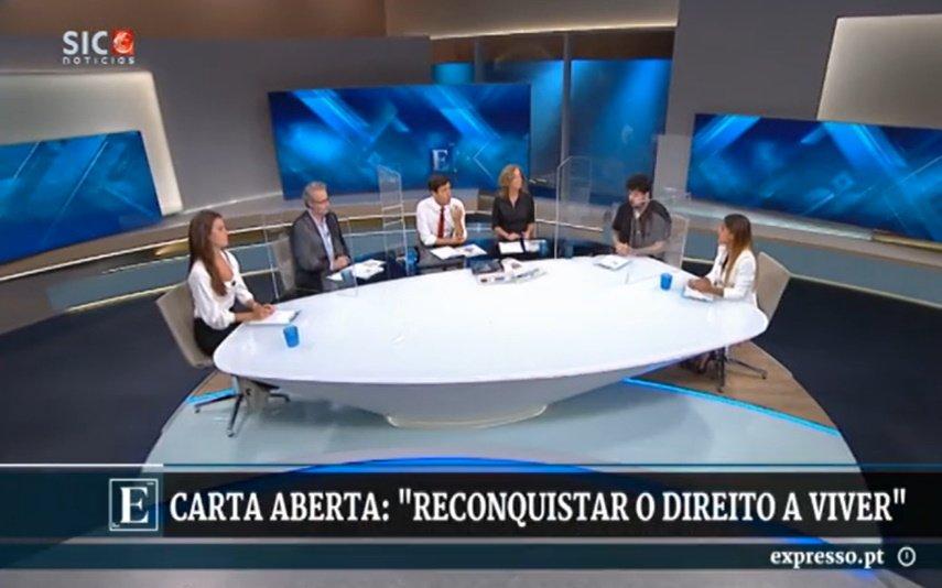 """Carolina Patrocínio no """"Expresso da Meia Noite"""", SIC Notícias"""