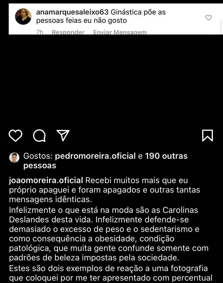 A publicação original de João Moreira