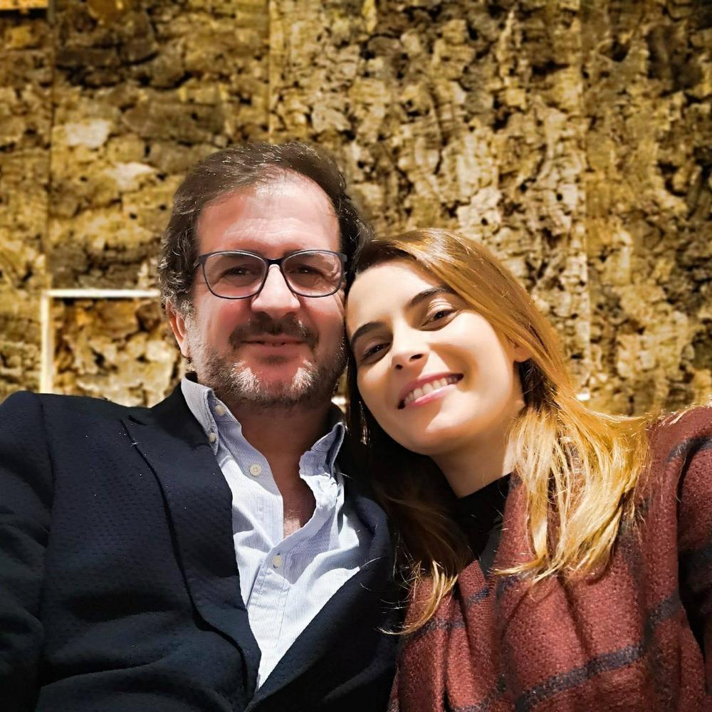 Carlos M. Cunha e a noiva, Marisa Lopes