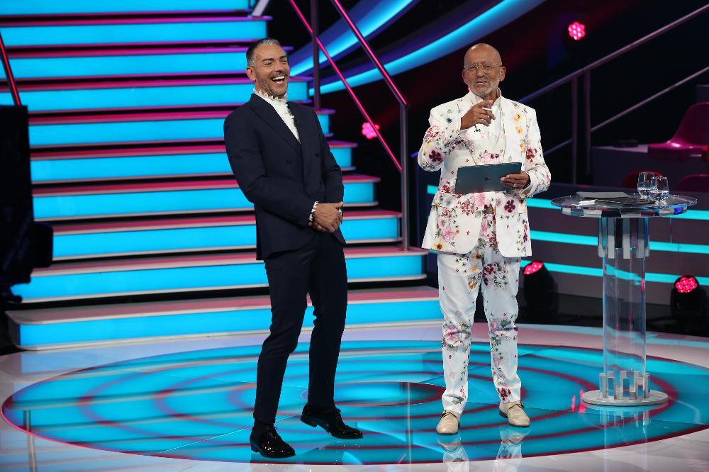 """Cláudio Ramos e Manuel Luís Goucha na estreia do reality show da TVI """"Big Brother"""""""