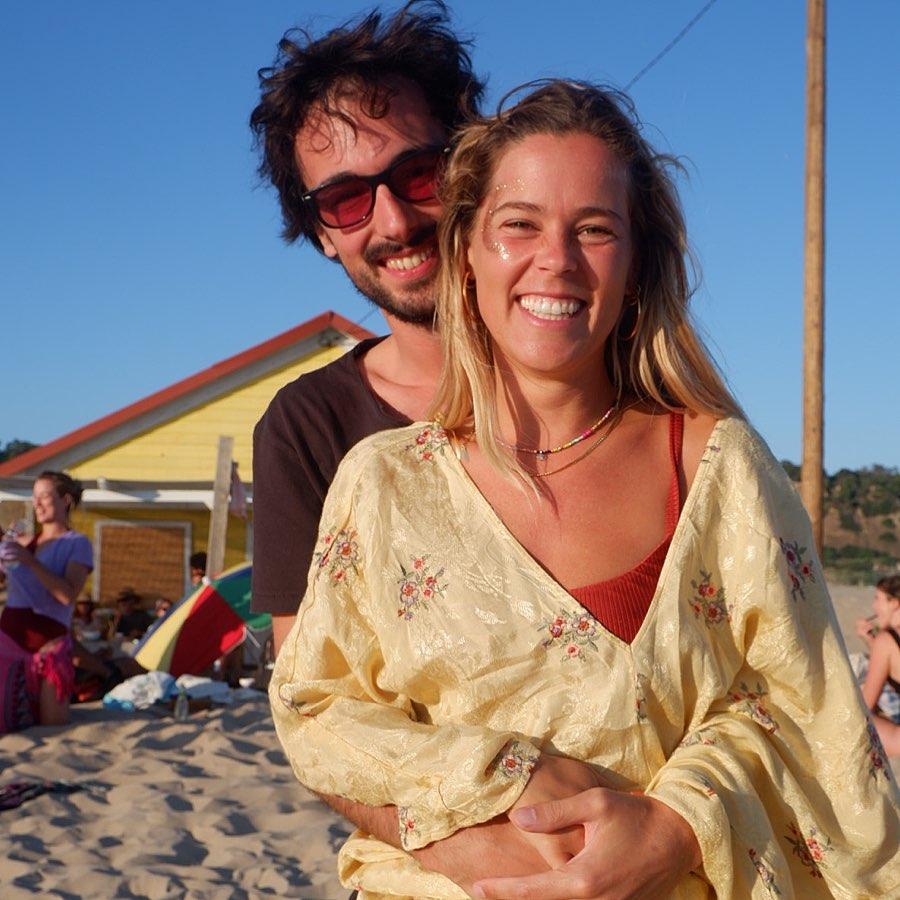 Inês Aires Pereira com o namorado, David Ferreira da Silva