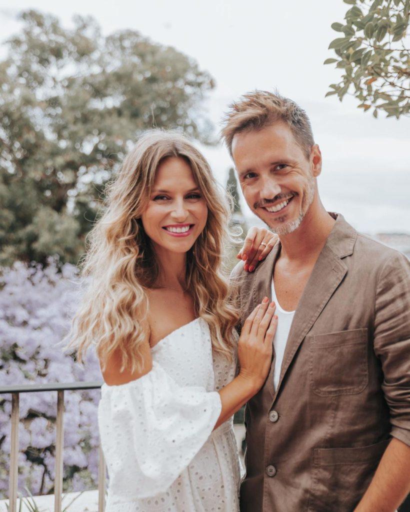 Núria Madruga com o marido, Vasco Silva