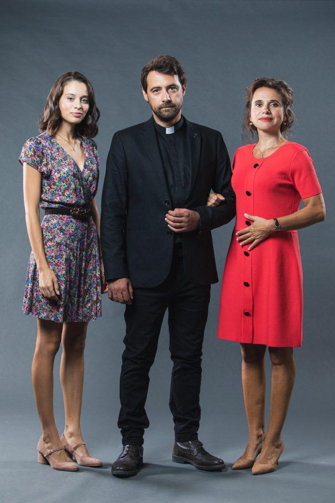 """Daniela Melchior, Pedro Lamares e Dalila Carmo na minissérie da TVI """"Pecado"""""""