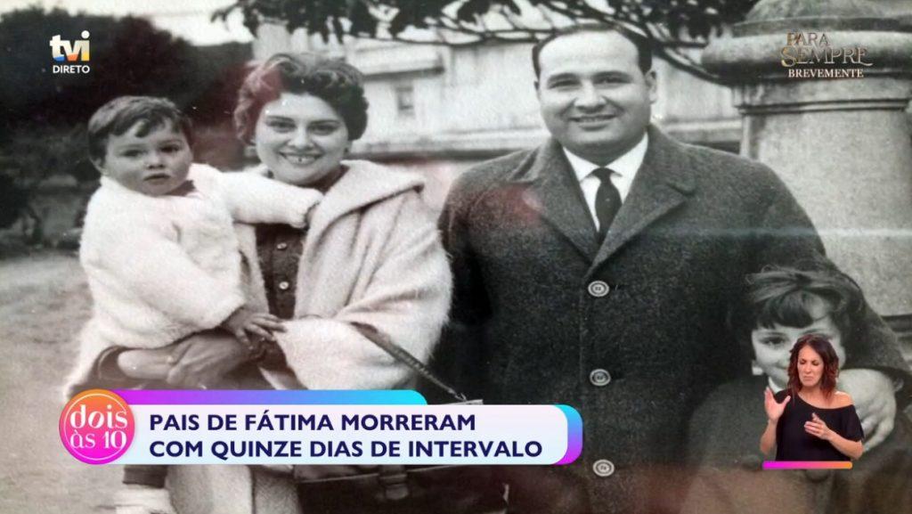 Fátima Campos Ferreira despediu-se do pai 15 dias depois da morte da mãe