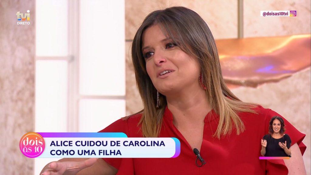"""Maria Botelho Moniz não conteve a emoção com a história de uma convidada do programa da TVI """"Dois às 10"""""""