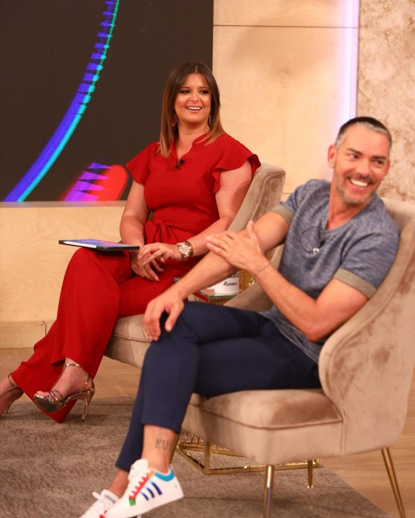 """Maria Botelho Moniz e Cláudio Ramos no programa da TVI """"Dois às 10"""""""