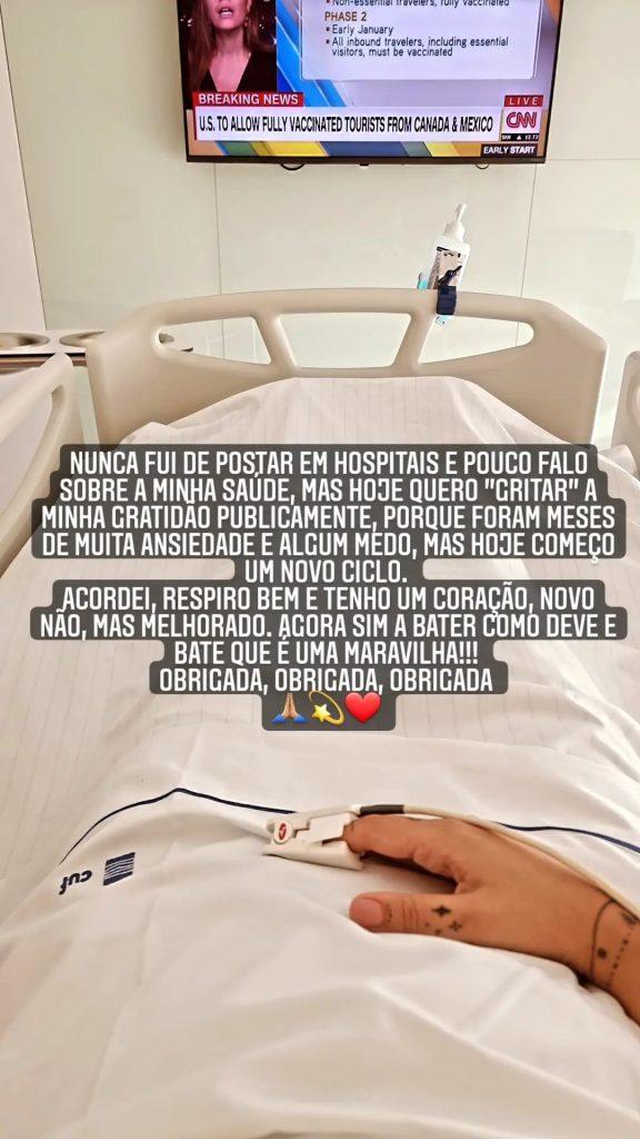 """Marta Cruz foi submetida a uma cirurgia ao coração após """"meses de muita ansiedade e algummedo"""""""