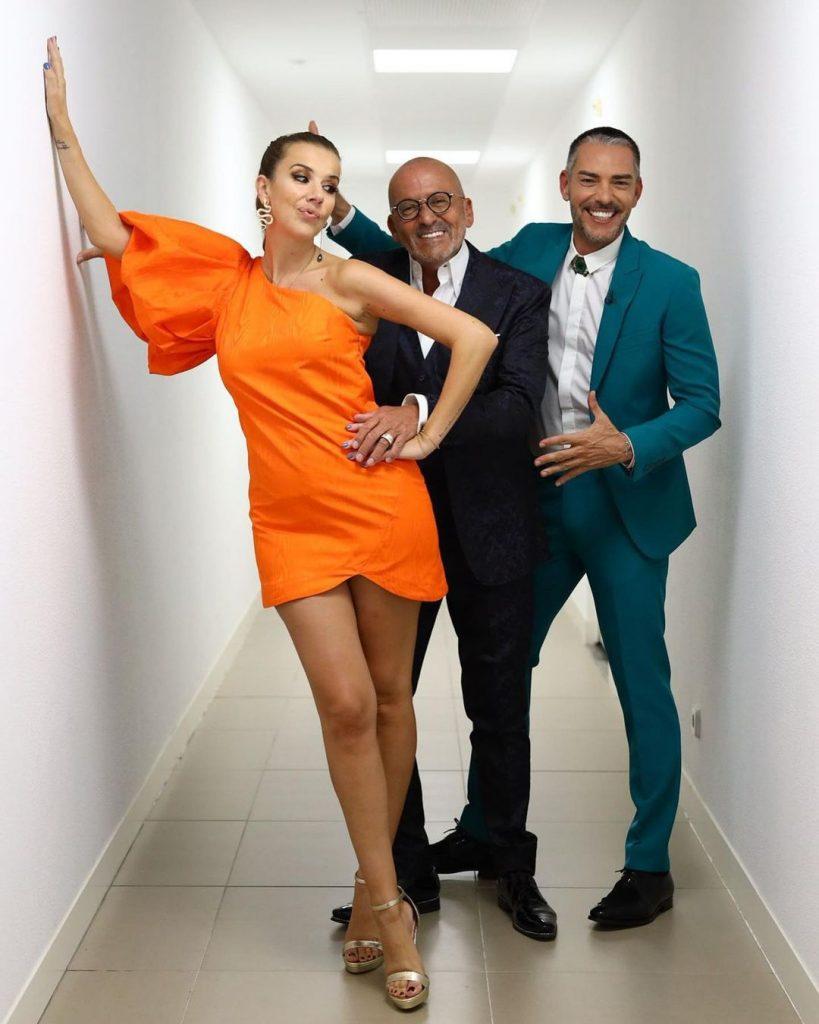 """A Pipoca Mais Doce (Ana Garcia Martins), Cláudio Ramos e Manuel Luís Goucha no reality show da TVI """"Big Brother"""""""
