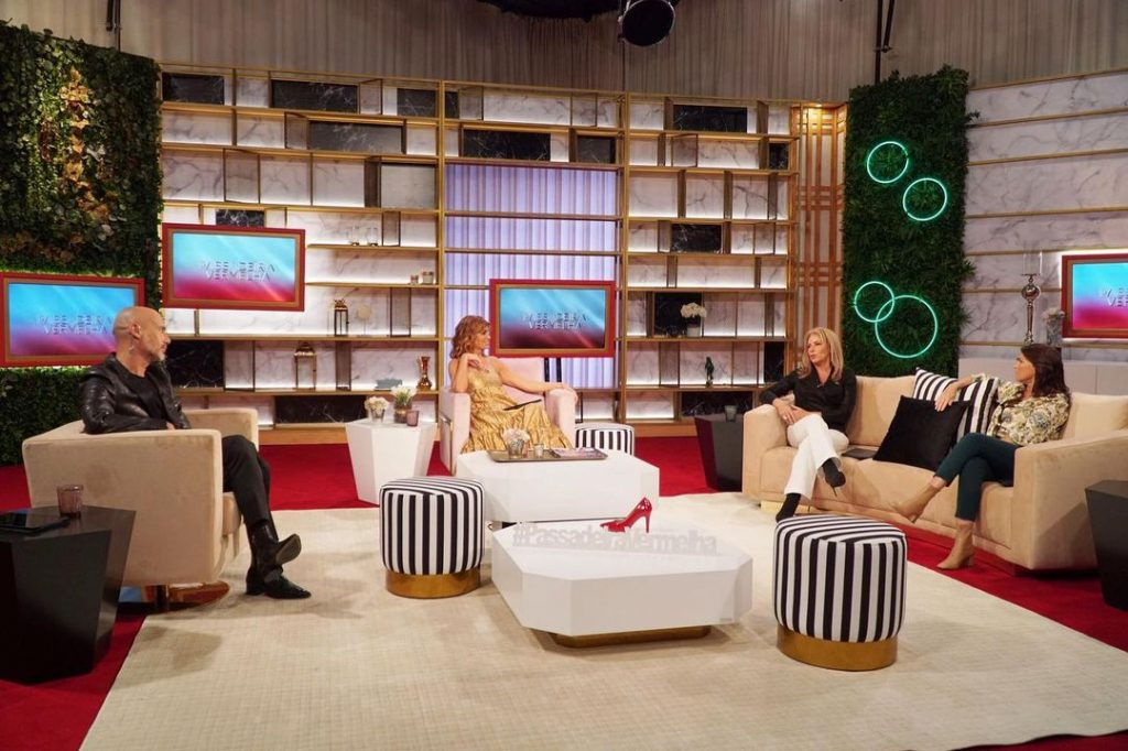 """Rita Salema, Alexandra Lencastre, Pedro Crispim e Liliana Campos no programa da SIC Caras """"Passadeira Vermelha"""""""
