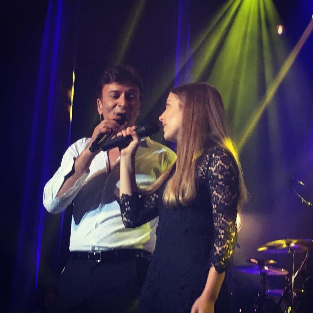 Tony Carreira com a filha, Sara Carreira